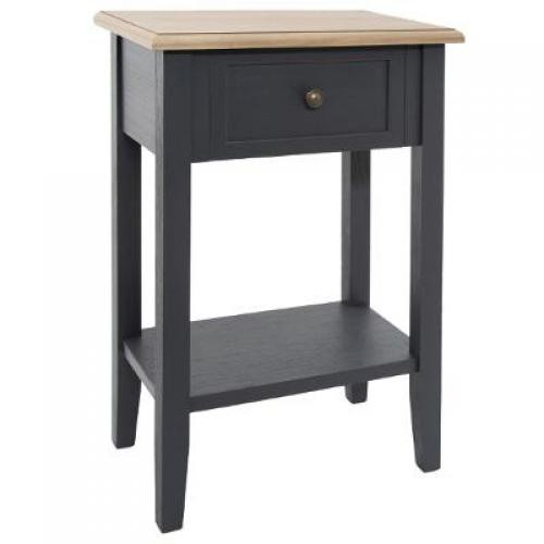 3S. x Home - Table de chevet 1 tiroir Noir WINTA - Table de chevet