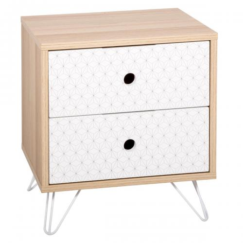 3S. x Home - Table de chevet 2 tiroirs MINIA - Table de chevet