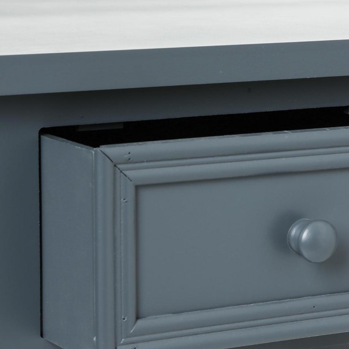 Console 2 tiroirs Gris KELIA YfsP7