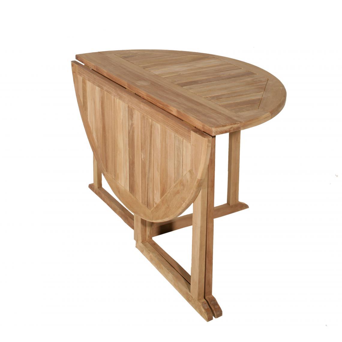"""Table de jardin 7/7 personnes - à rabats """"papillon"""" en bois Teck"""