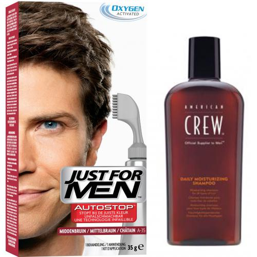 Just for Men - PACK AUTOSTOP & SHAMPOING Châtain - Coloration Cheveux Homme - Soins homme