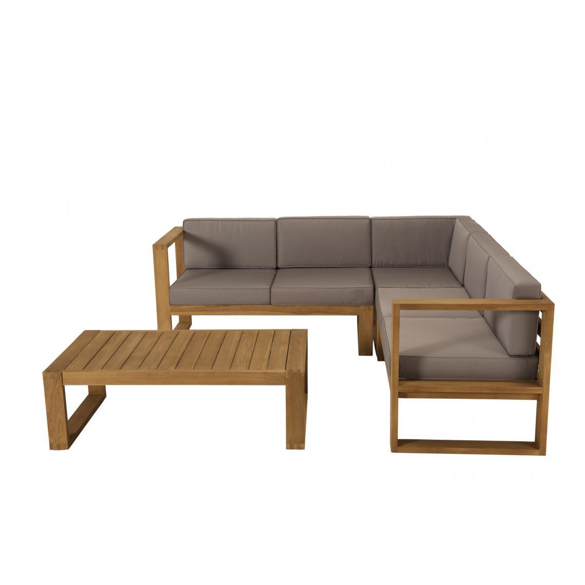 Salon De Jardin Minorque Table Basse Teck Canape D Angle 5