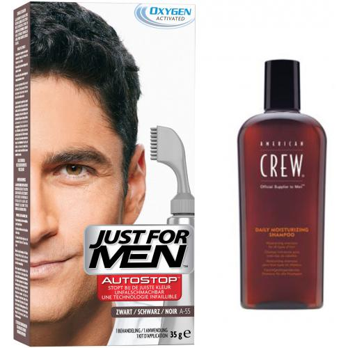 Just for Men - PACK AUTOSTOP & SHAMPOING Noir - Coloration Cheveux Homme - Soins homme
