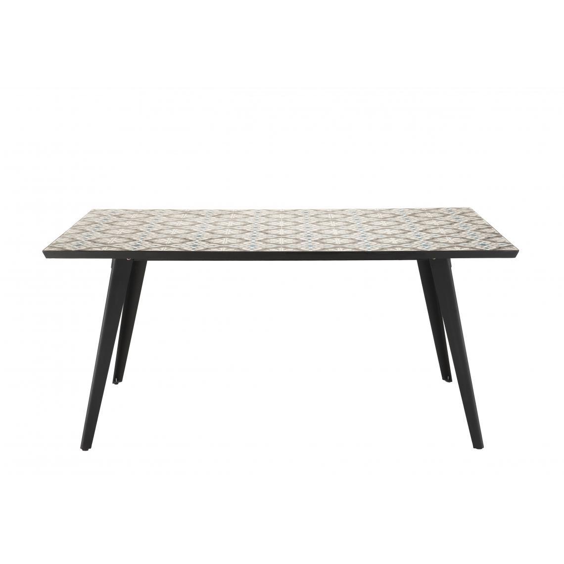 Salon De Jardin Carreau De Ciment table rectangulaire plateau carreaux de ciment 162x102cm - pieds métal plus  de détails