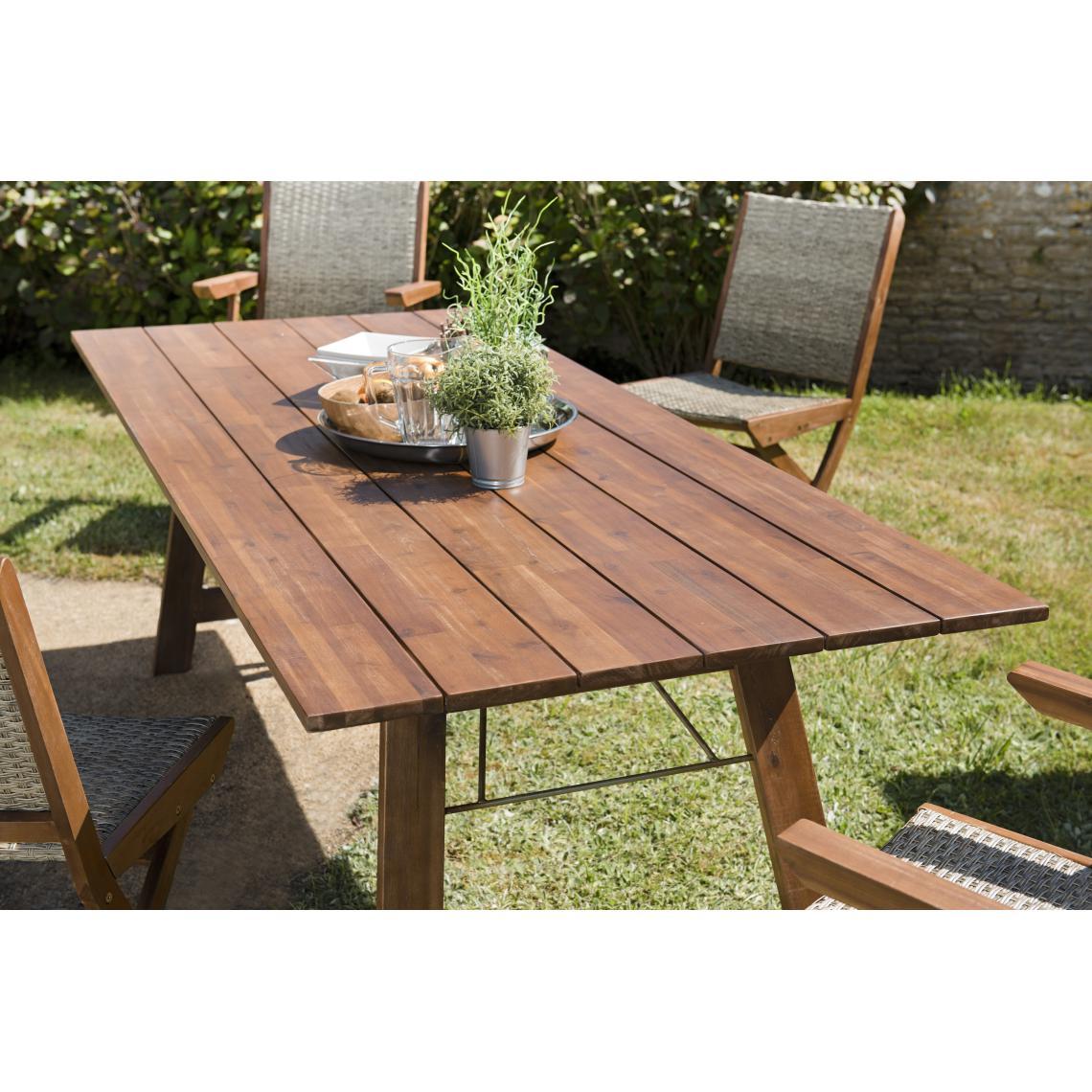 Table Rectangulaire Pliante 220x90cm En Acacia 3 Suisses