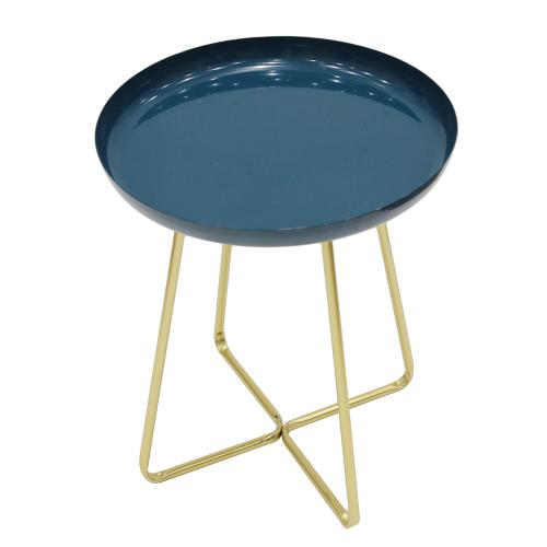 3S. x Home - Table d'appoint Bleue HARLOW - Table basse