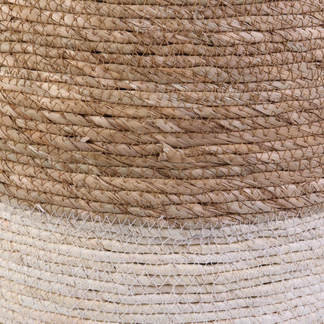 Pouf Jonc De Mer pouf blanc et bois antonio plus de détails