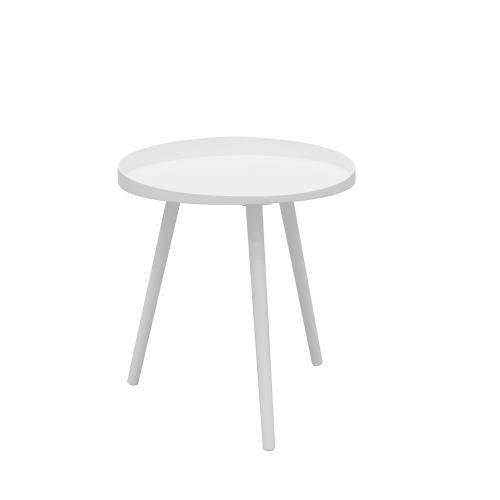 3S. x Home - Table basse D40cm Blanche - Table basse