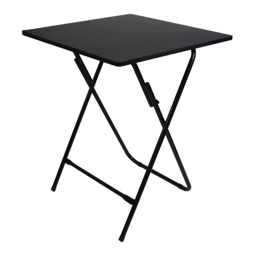 3S. x Home - Table d'appoint pliable Noire - Table basse
