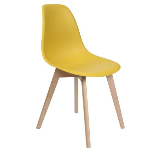 3S. x Home - Chaise scandinave Jaune VADSA - Fauteuil