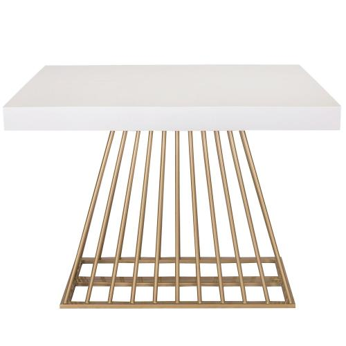 3S. x Home - Table extensible Bois Blanc EXTENSO - Table