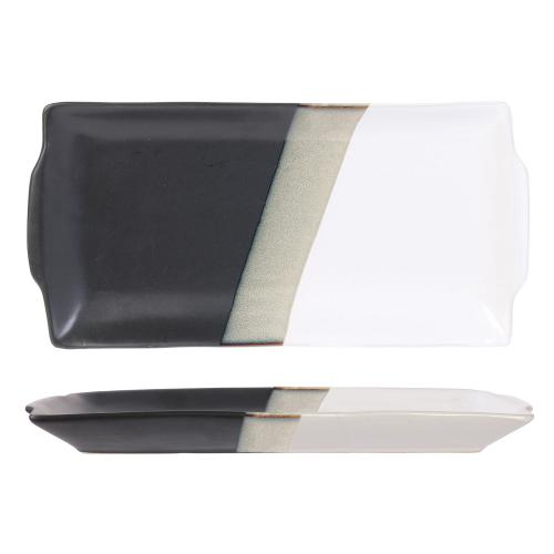 3S. x Home - Plat a cake 30x15cm black and white DALEY - Meuble & Déco