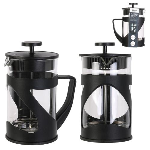 3S. x Home - Cafetiere a piston noir 80cl 7 tasses HADEN