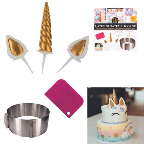 3S. x Home - Set a patisserie decoration licorne LAWES - La Cuisine