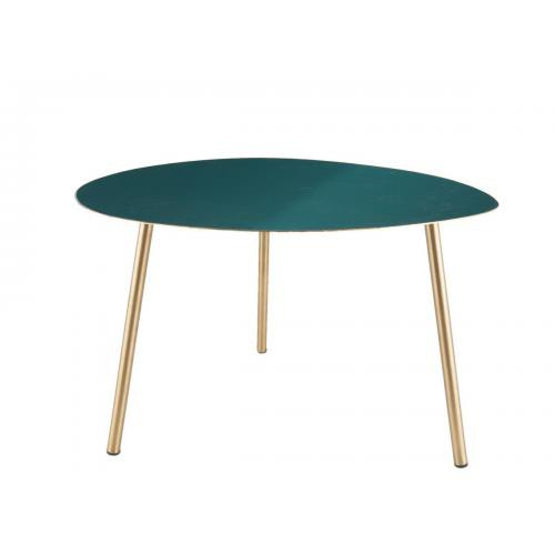 3S. x Home - Table d'appoint OVALIS - vert - Table basse