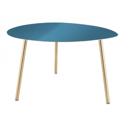 3S. x Home - Table d'appoint OVALIS - bleu - Table basse