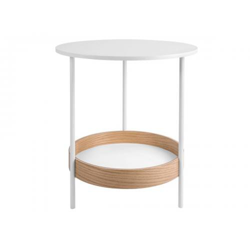 3S. x Home - Table d'appoint DUEL acier - Blanc - Table basse