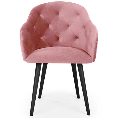 3S. x Home - Fauteuil Velours Rose RIONE - Fauteuil