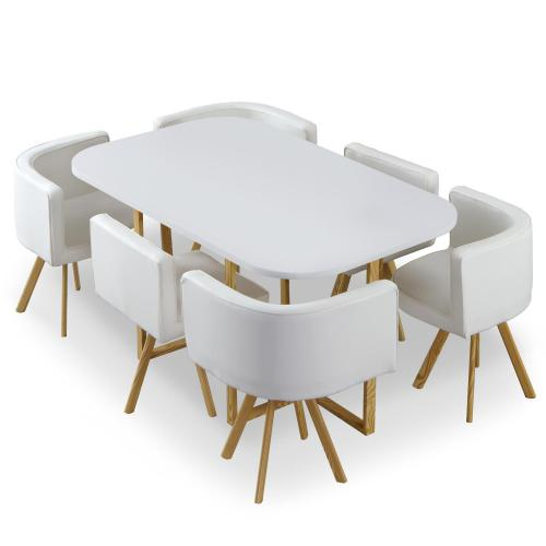 3S. x Home - Table et chaises Blanc et Simili Blanc LOSO - Table