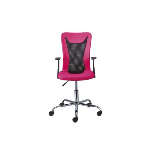 3S. x Home - Chaise de Bureau Ergonomique Rose HYKO - Dressing & rangement