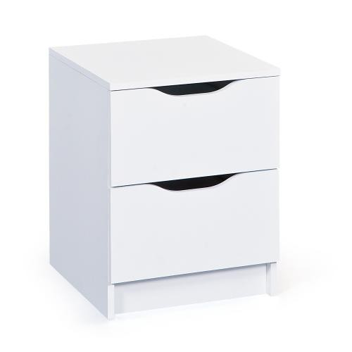 3S. x Home - Commode à 2 tiroirs Blanc MAURATI - Commode