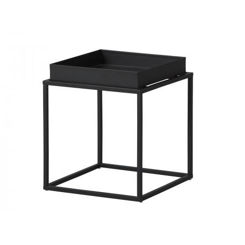 3S. x Home - Table d'appoint Empilable en Métal Laqué Noir CALICO - Table basse