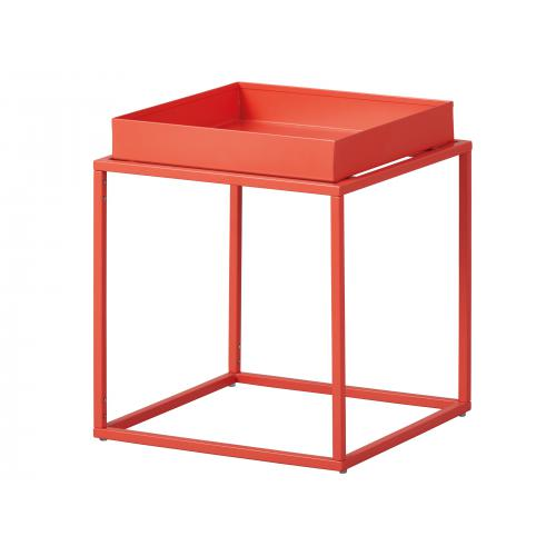 3S. x Home - Table d'appoint Empilable en Métal Laqué Orange CALICO - Meuble & Déco