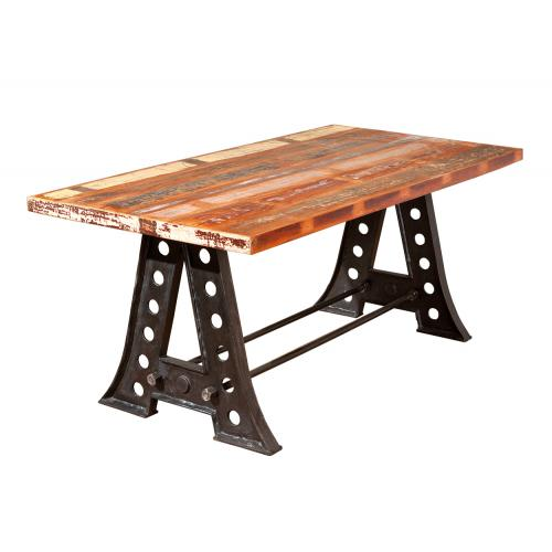 3S. x Home - Dessus de table Bois massif Manguier Multicolore MINAGO - Table