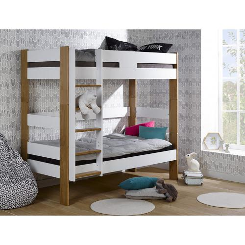 3S. x Home - Lit complet superposable SCANDI 90*190 - Lit enfant