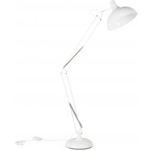 3S. x Home - Lampe architecte industrielle blanche LATTON - Lampadaire