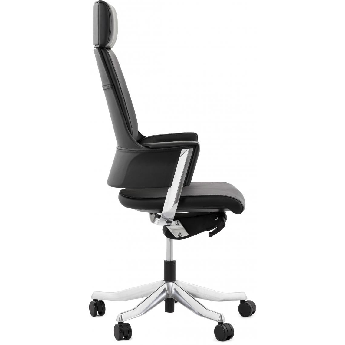 De Suisses Bureau Ergonomique Ivy3 Chaise Cuir Noir TFKcl1J