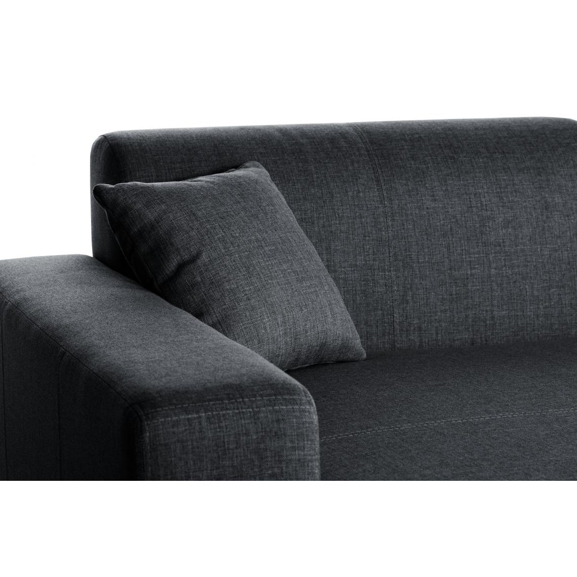 Canapé d'angle gauche Gris profond TERAZZA YG3ct
