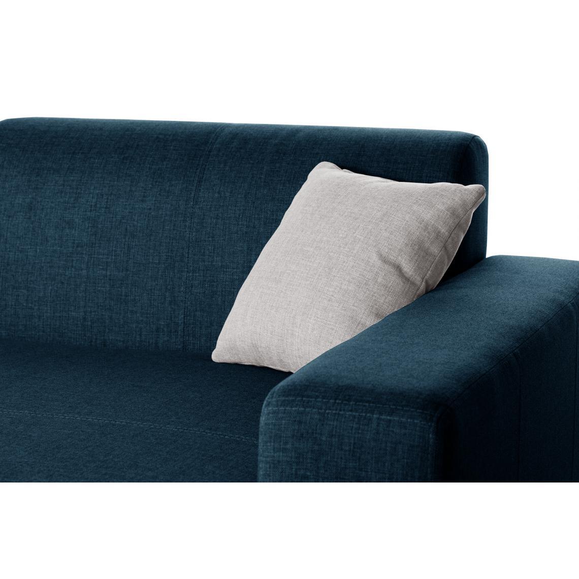 Canapé d'angle droit convertible Crème Turquoise TERAZZA 3nfux
