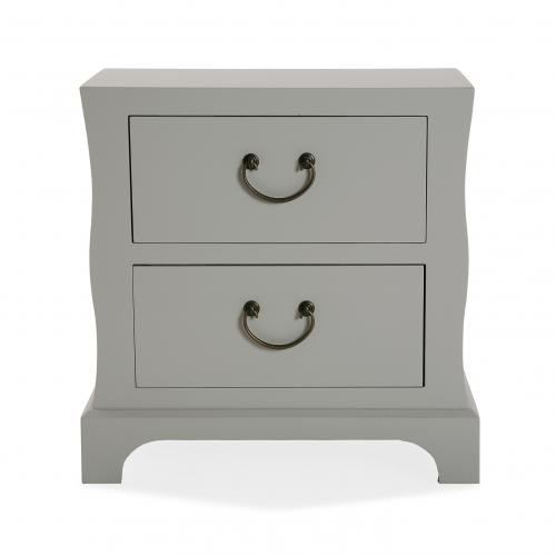 3S. x Home - Table de chevet gris RABLIZ - Table de chevet