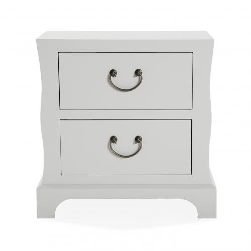 3S. x Home - Table de chevet Blanc RABLIZ - Table de chevet