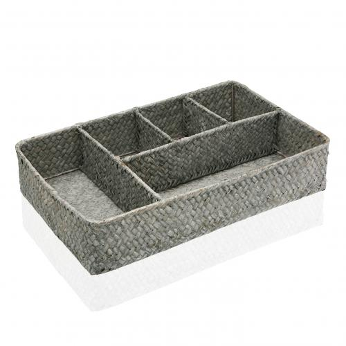 3S. x Home - Panier multi-cases gris CARLO - Dressing & rangement