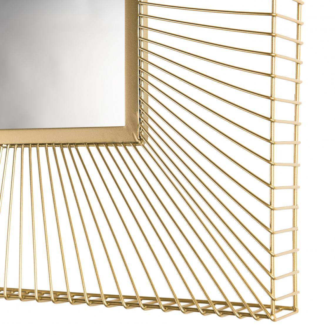 Miroir carré métal doré - TALIA mIMgl