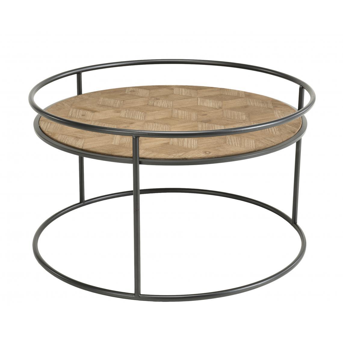 Table basse ronde Sapin et métal - ZELYA 2wqIC