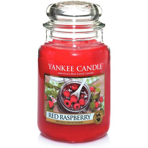 Yankee Candle - Bougie Grand Modèle Framboise Rouge - Meuble & Déco