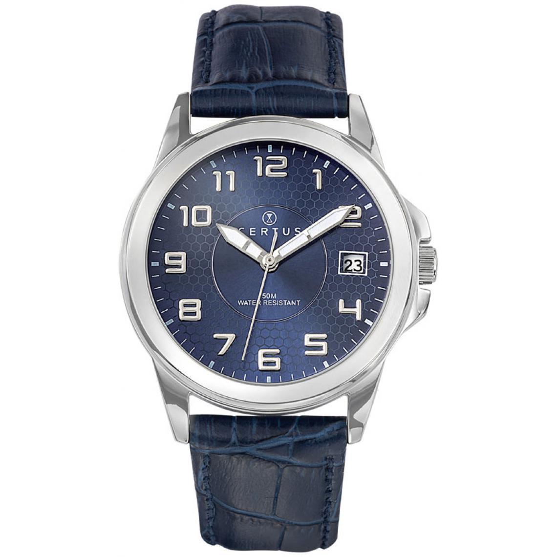 Montre Certus 610725 - Montre Cuir Bleue Certus Montres - 3 suisses - Modalova