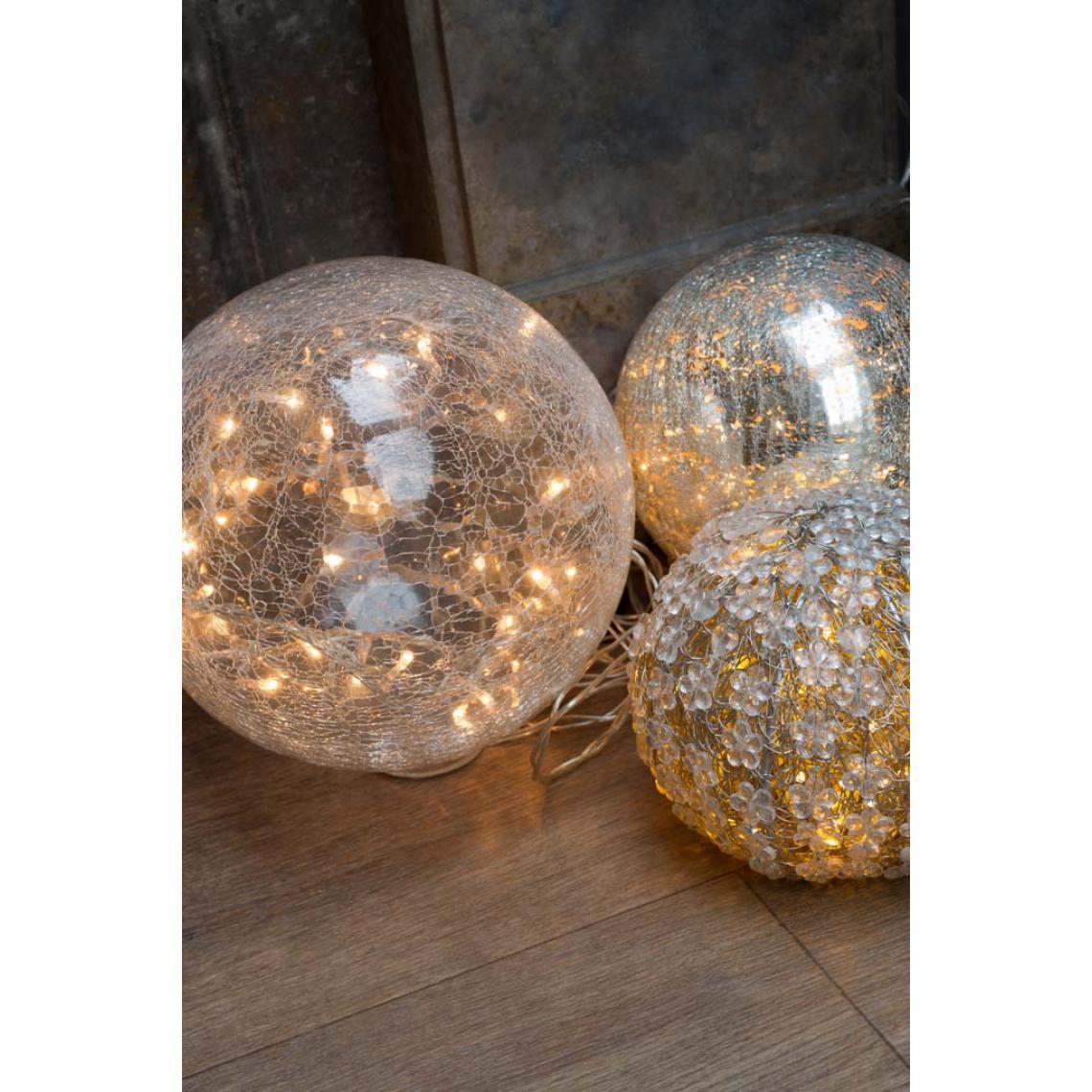 Décoration lumineuse en verre mercurisé 20cm LOMI t3UY4