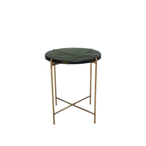 Chehoma - Table d'appoint ronde en verre  - Table basse