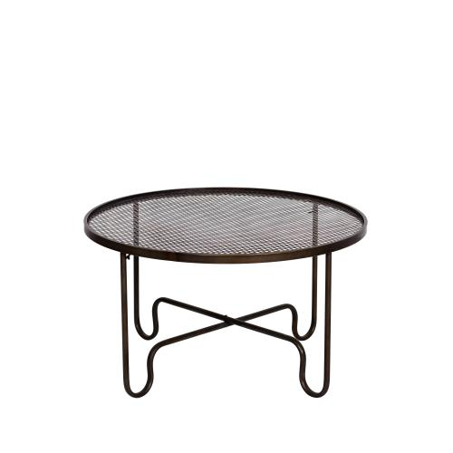 Chehoma - Table basse rond plateau grillagé TELA - Table basse