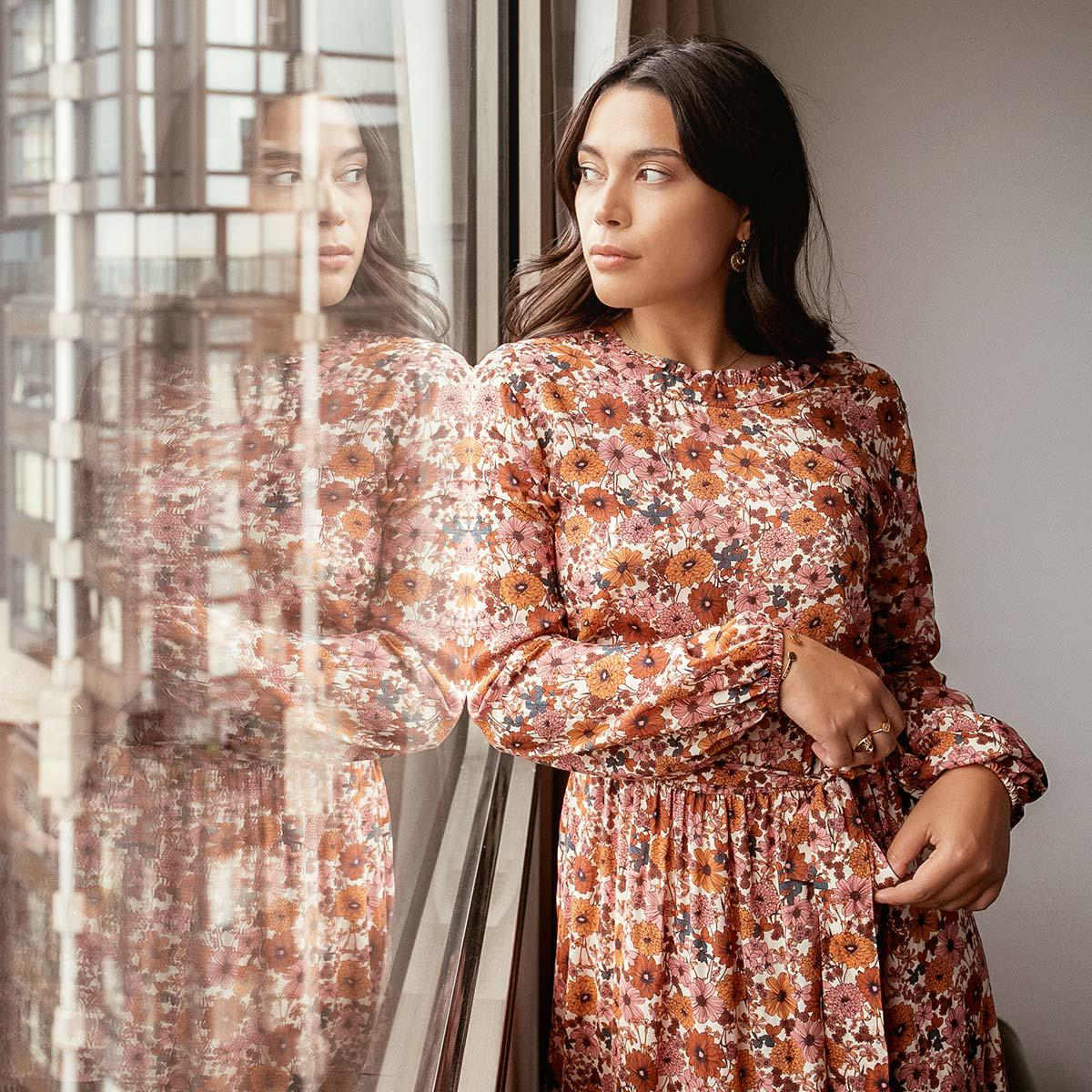 Robe Longue A Fleurs Claudia Reedition 3 Suisses