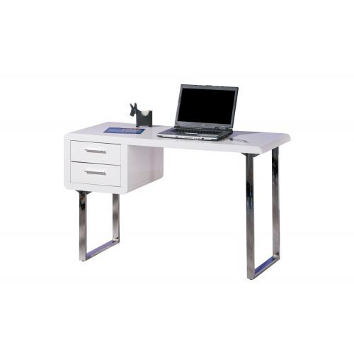 3S. x Home - Table Bureau 2 tiroirs blanc HENRY - Dressing & rangement