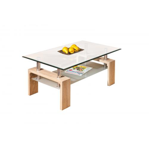 3S. x Home - Table Basse en verre ALANA - Table basse