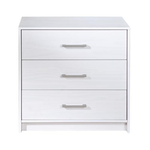 3S. x Home - Commode blanc 3 tiroirs MIAMI - Dressing & rangement