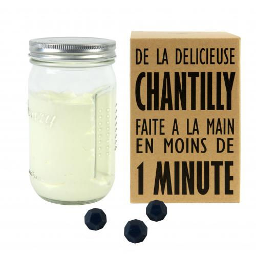 Cookut - Shaker Chantilly 3 Billes CREAM - Couvert et ustensile