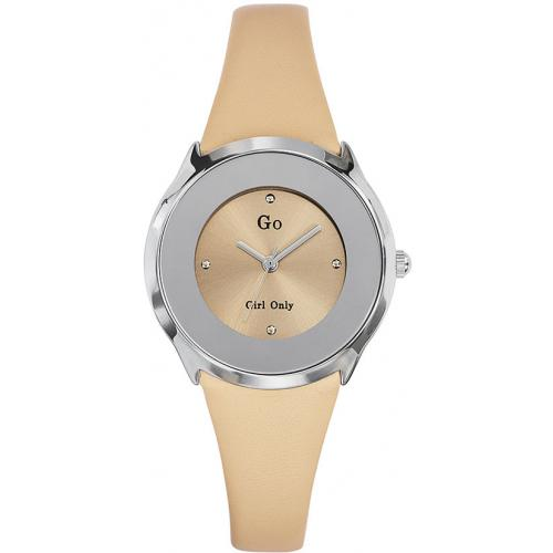 Go Girl Only - Montre Go Girl Only 698004 - Montre Cuir Beige Femme