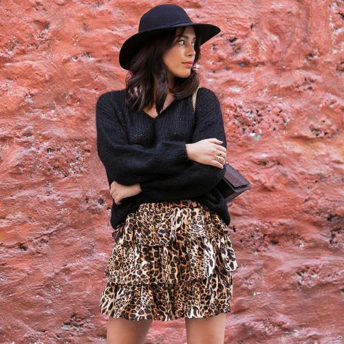 Jupe léopard Lilou